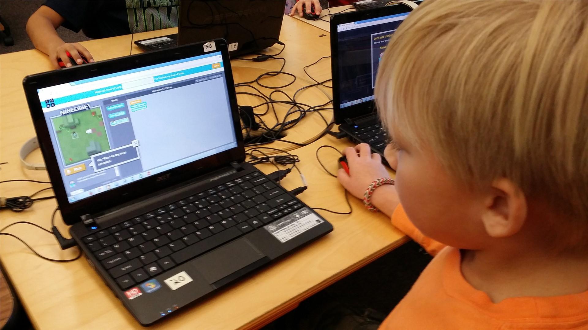 Hour of Code in 1st Grade
