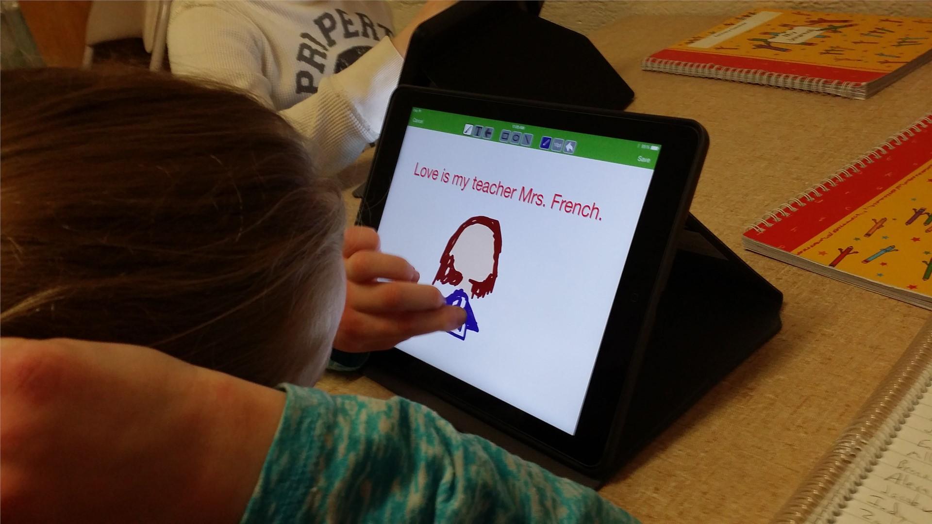 30 Hands App on Ipad - Creating Stories 1st Grade