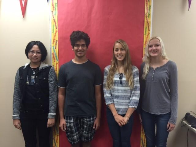 BBHHS National Merit Semi-finalists, c/o 17: Jessica Wang, Rushil Raghavan, Dana Dosen, Erin McMahon