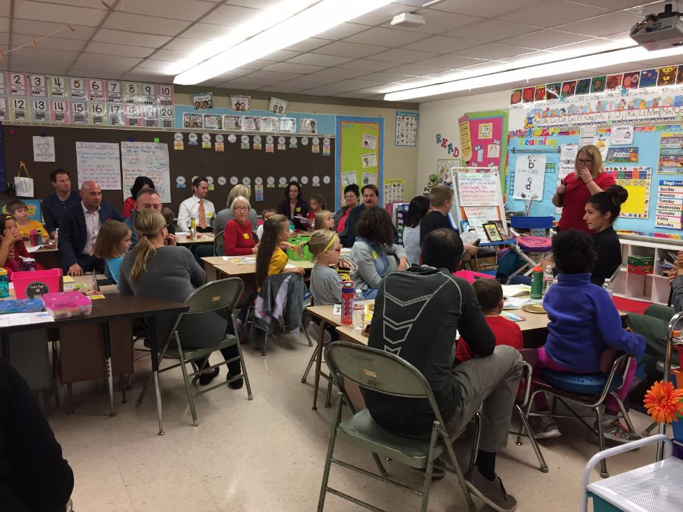 1st grade book bistro students and parents 5