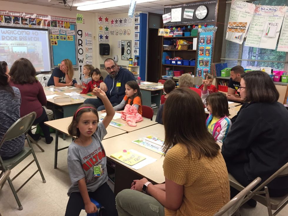 1st grade book bistro students and parents 17