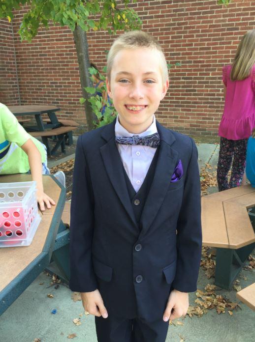 Boy in sharp suit