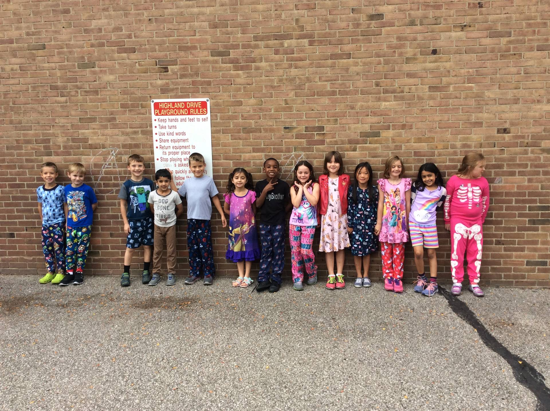 Spirit Week Pajama Day 8