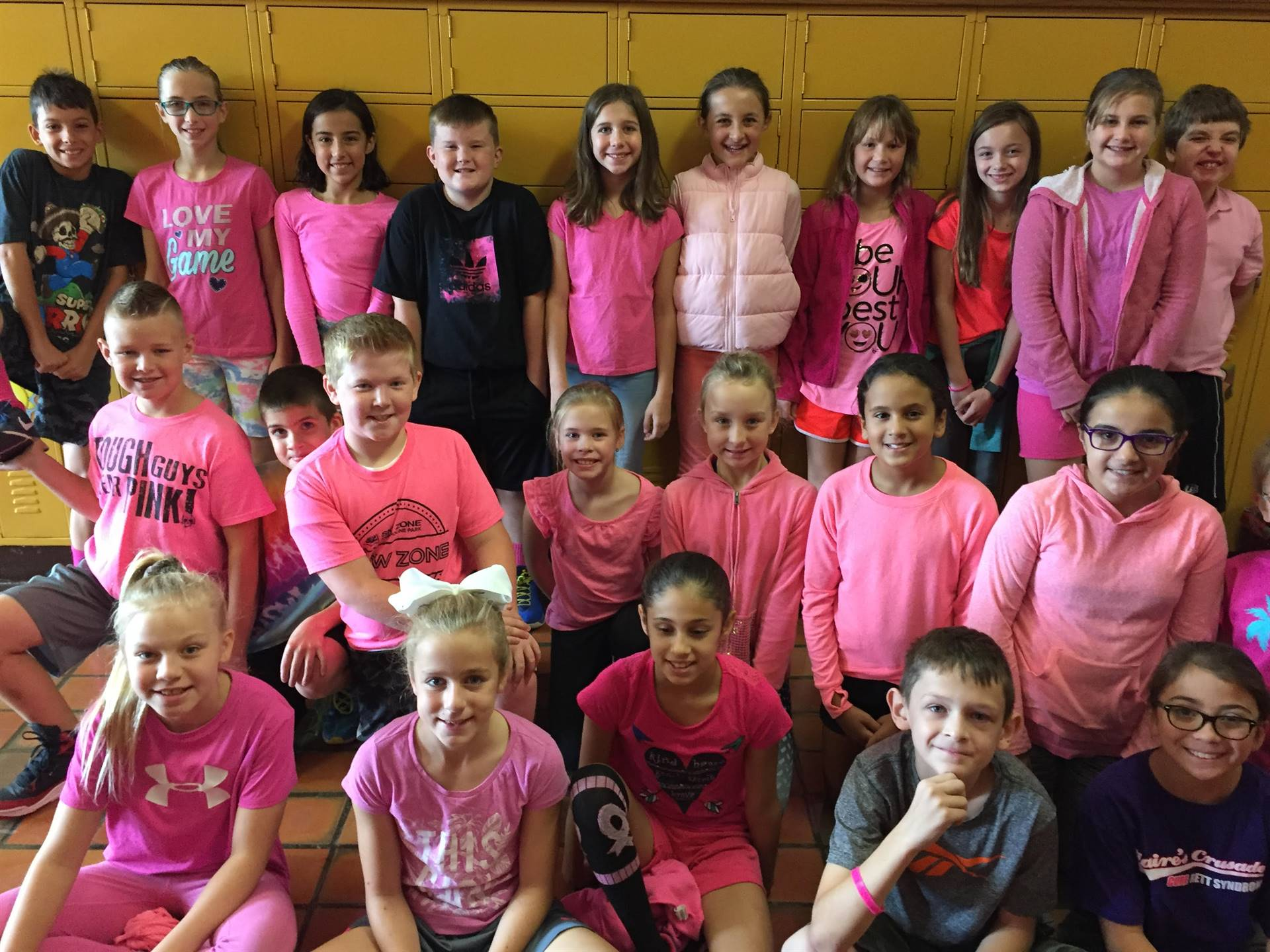 Wear Pink Day at central