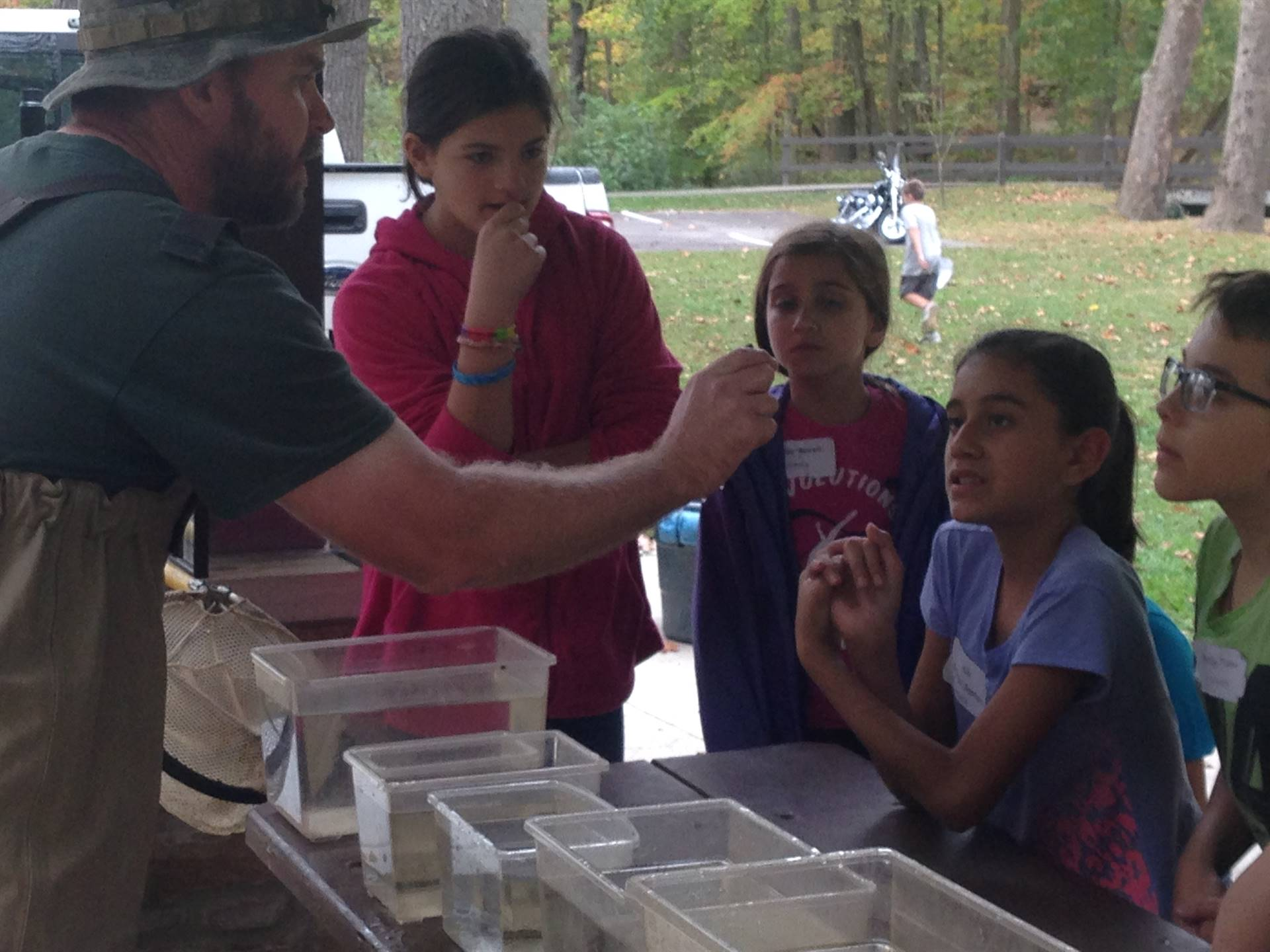 Metroparks pond material lesson