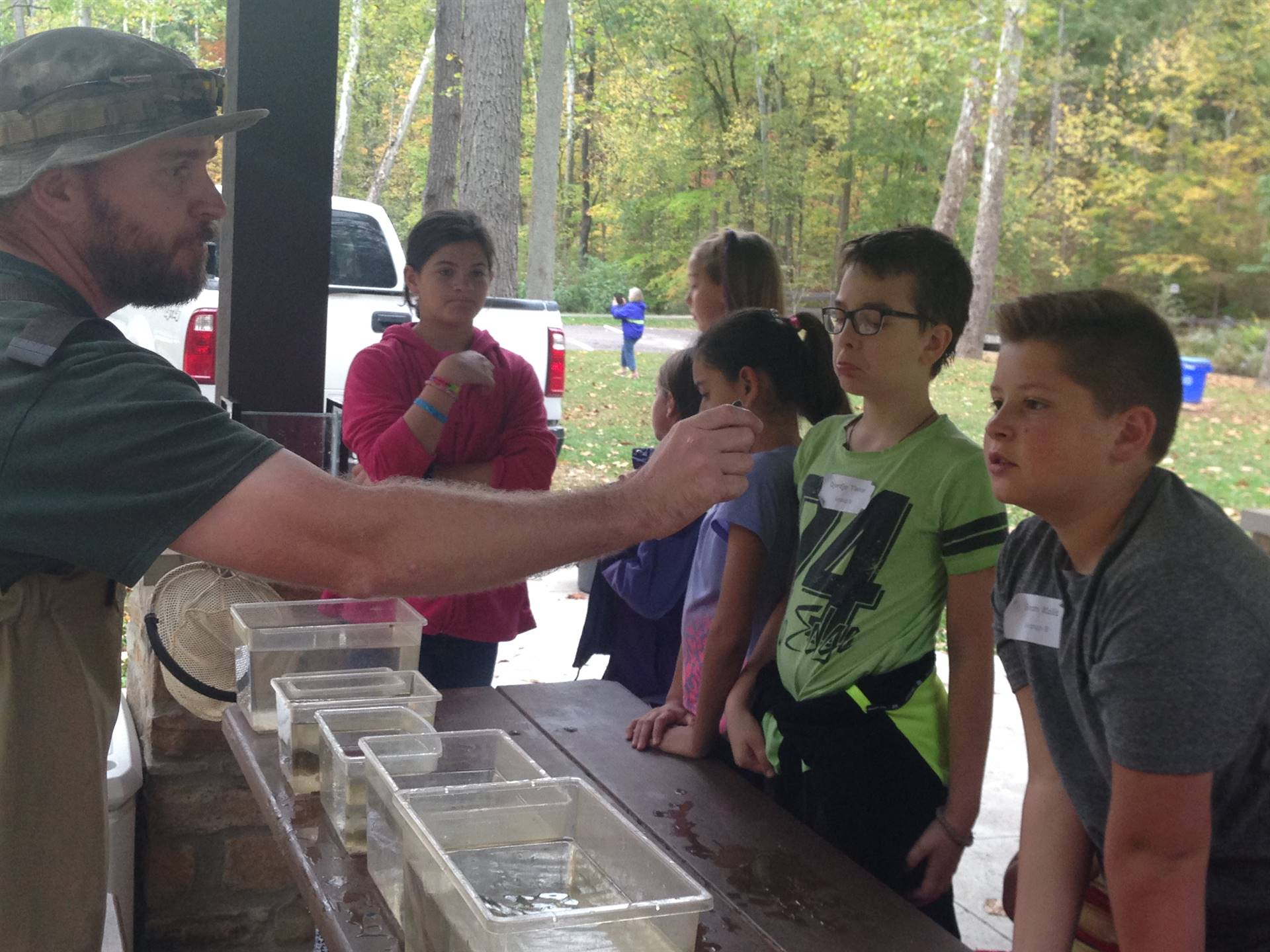 Metroparks learning about stream life forms
