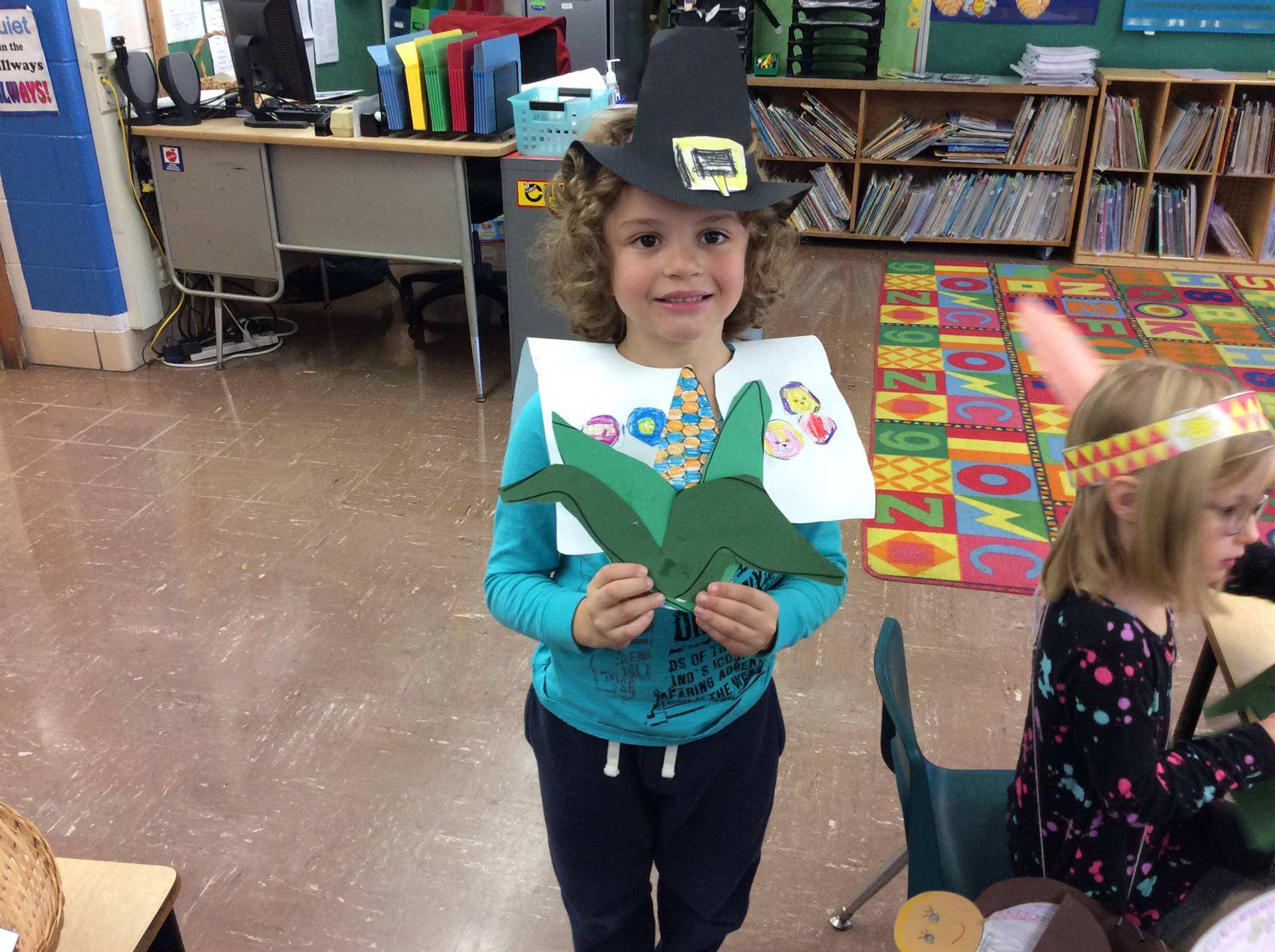 First Graders celebrate the first Thanksgiving!