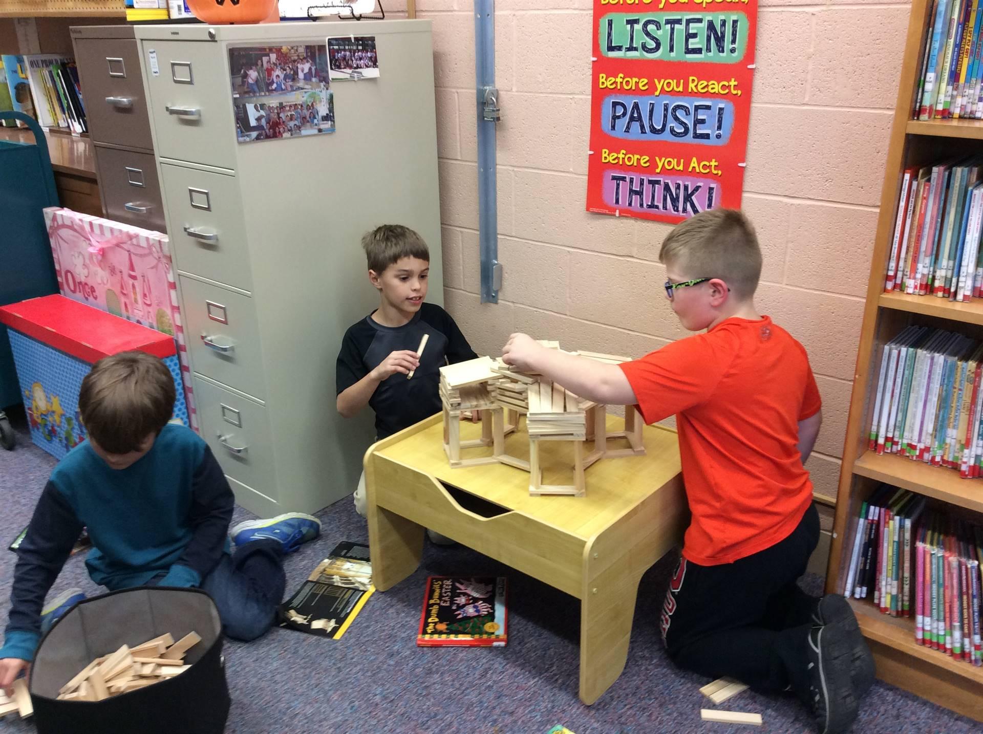 Building with Keva blocks
