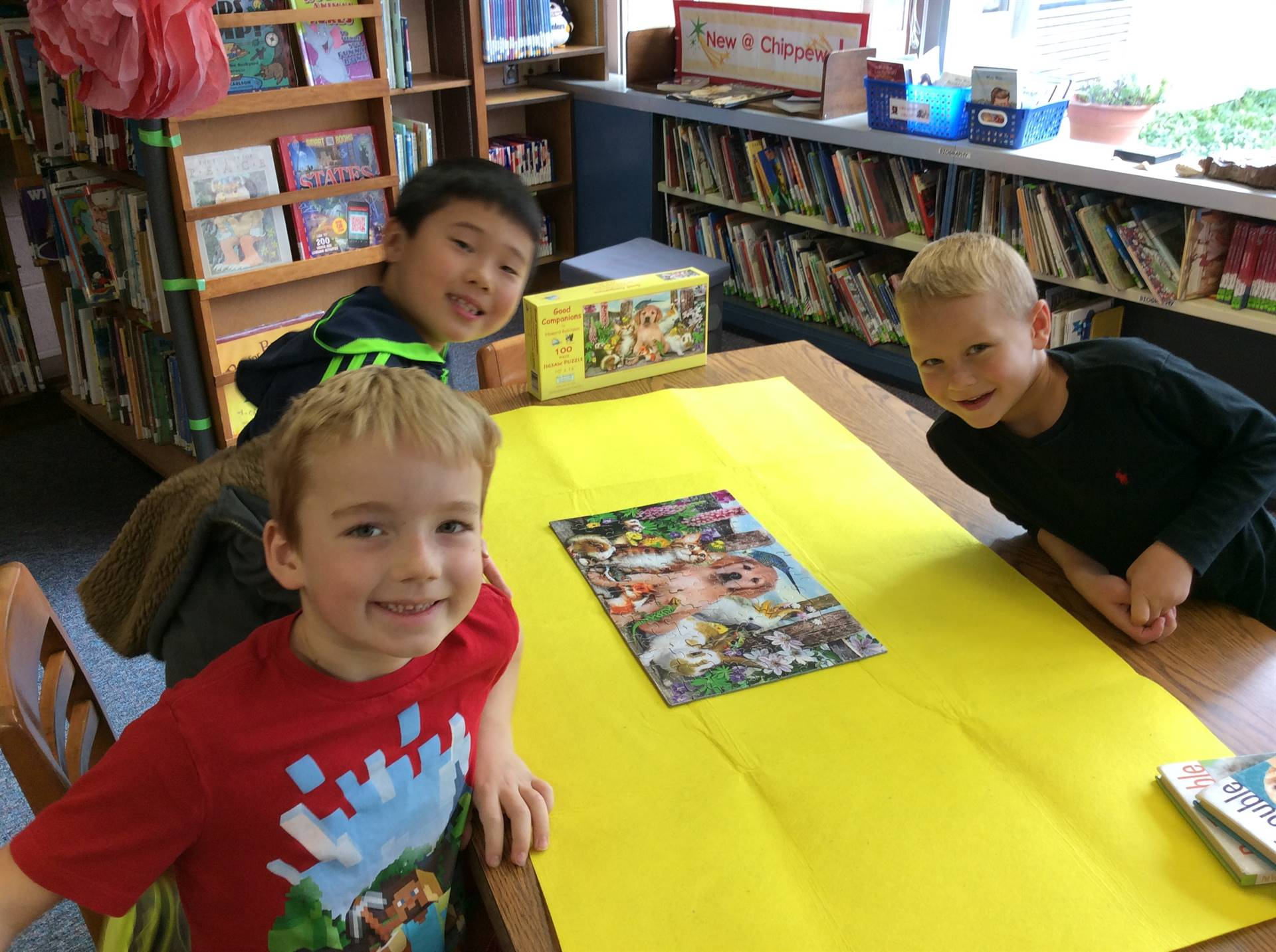 These students completed our first puzzle of the year!