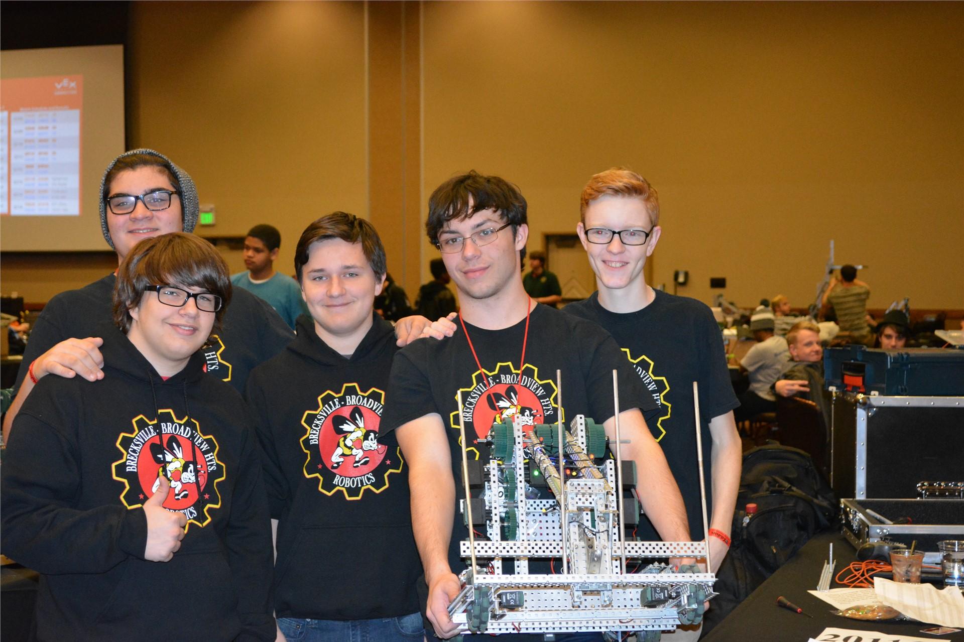 Robotics team in action!