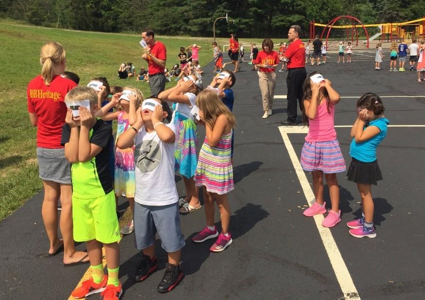 Miss Allar's class views eclipse