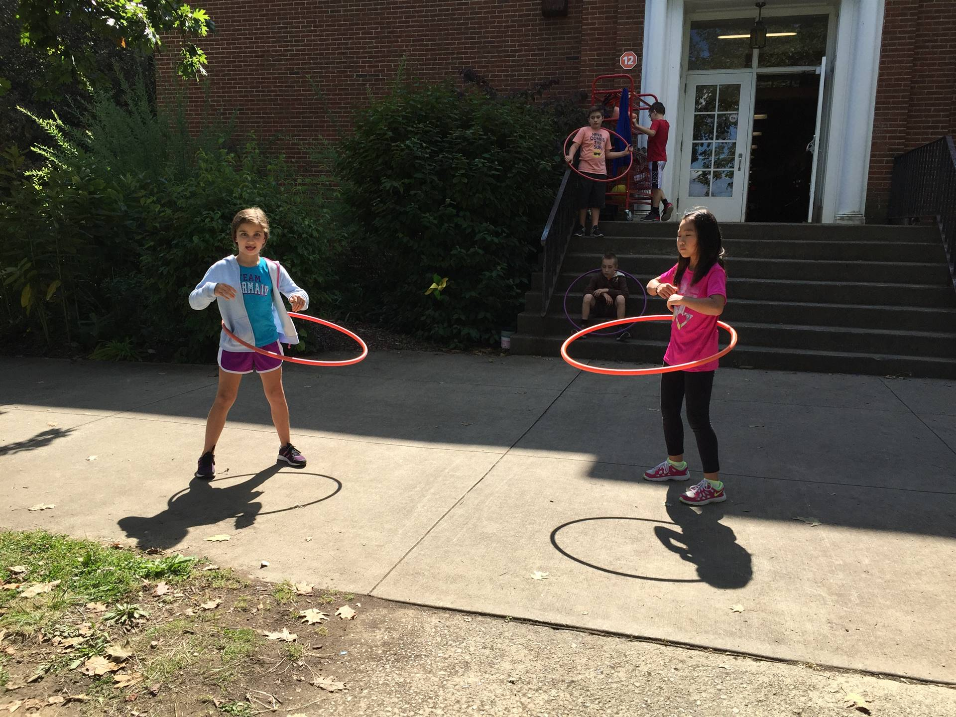 Recess hula hoops