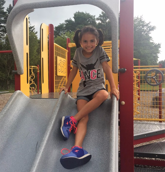 Sitting on slide