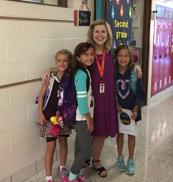Miss Knodel and students