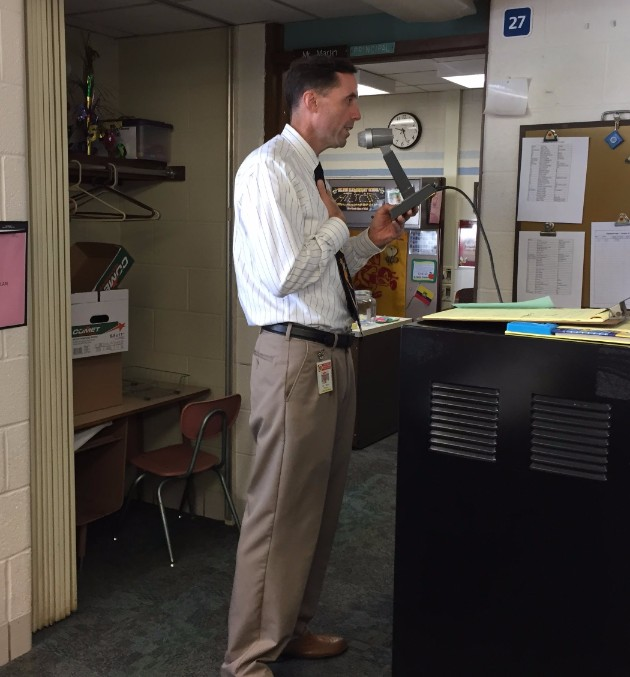 Mr. Martin doing annoucements
