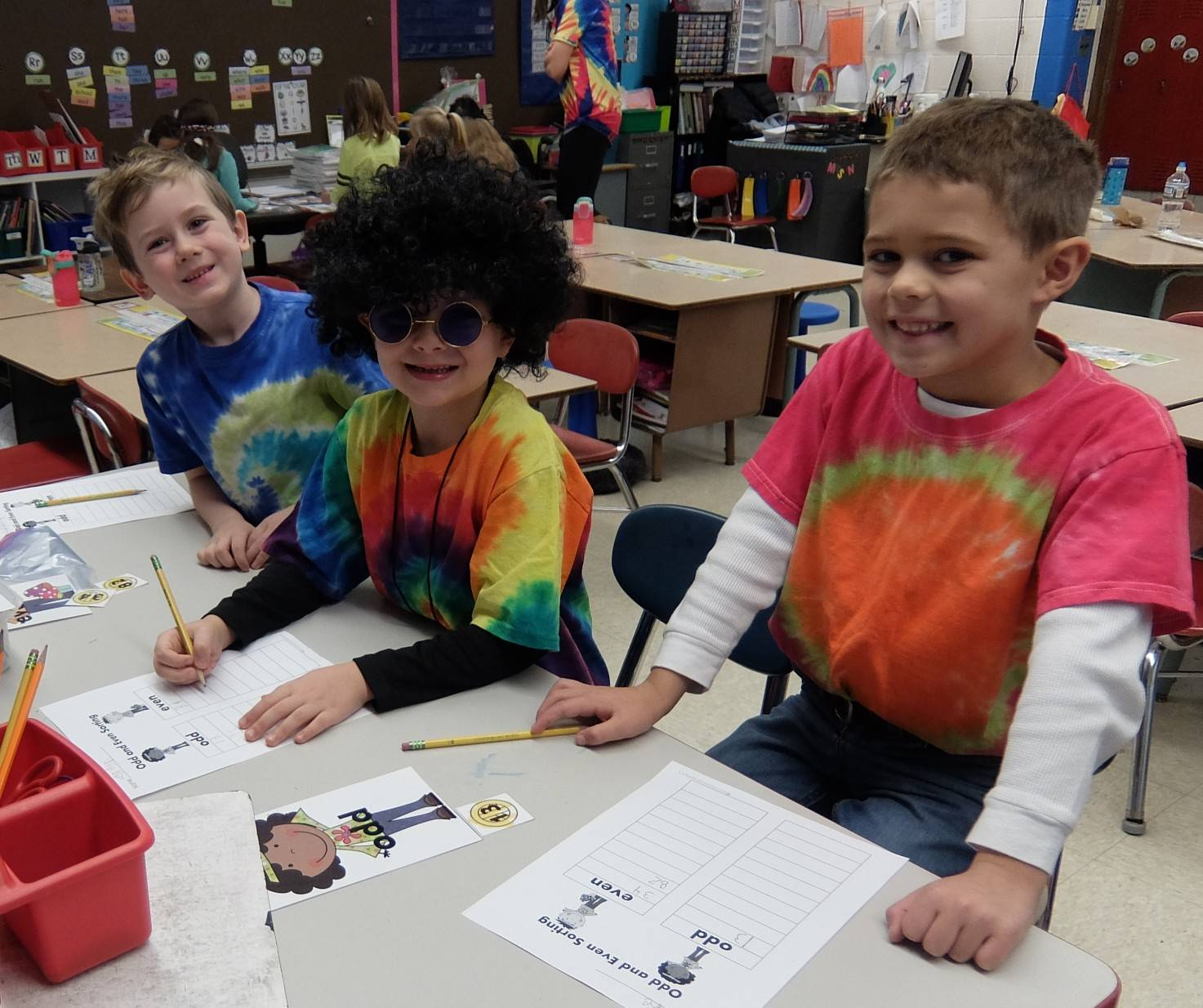 1st graders - 60's Day 17