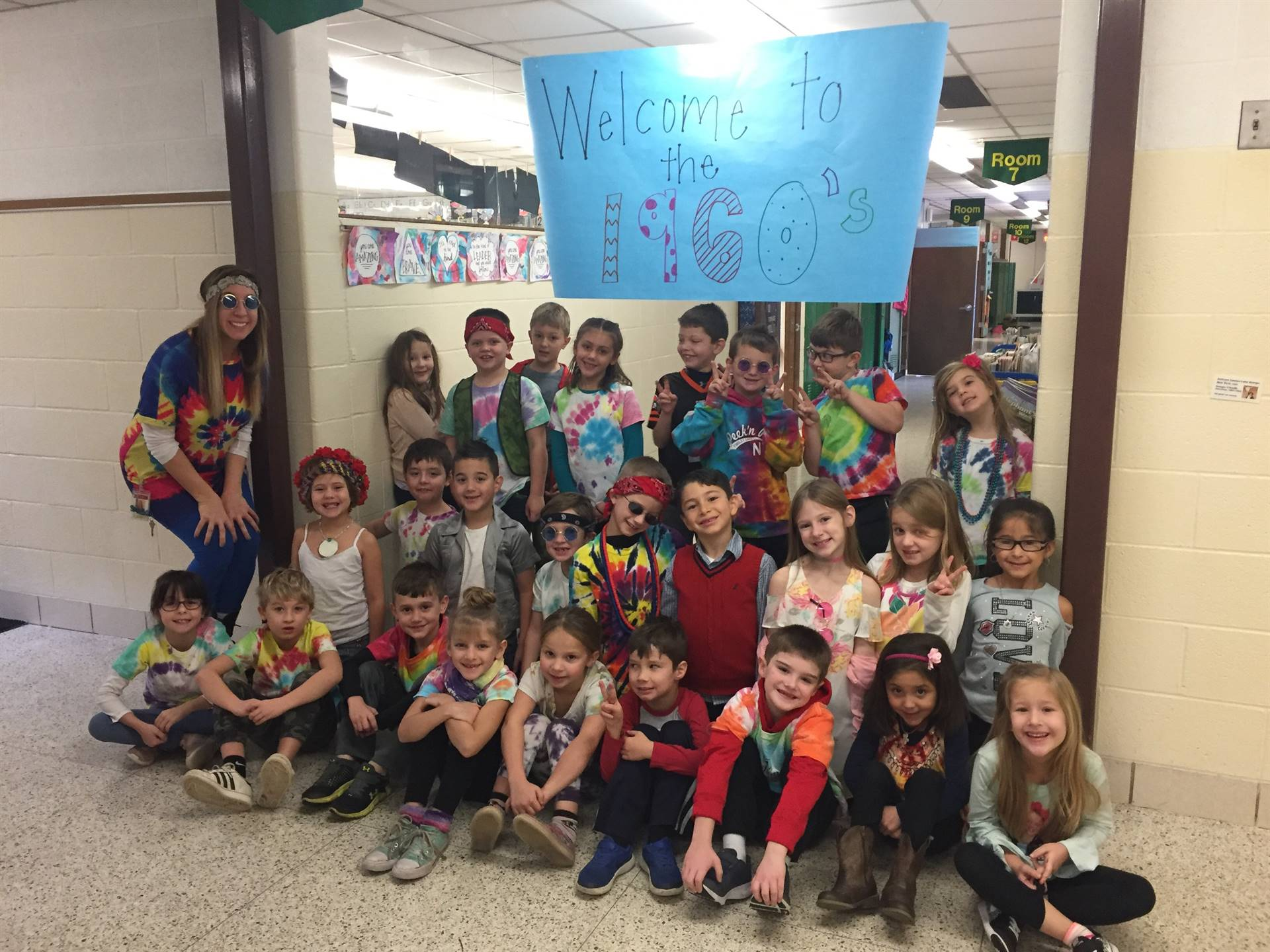 1st Grade 60's Day