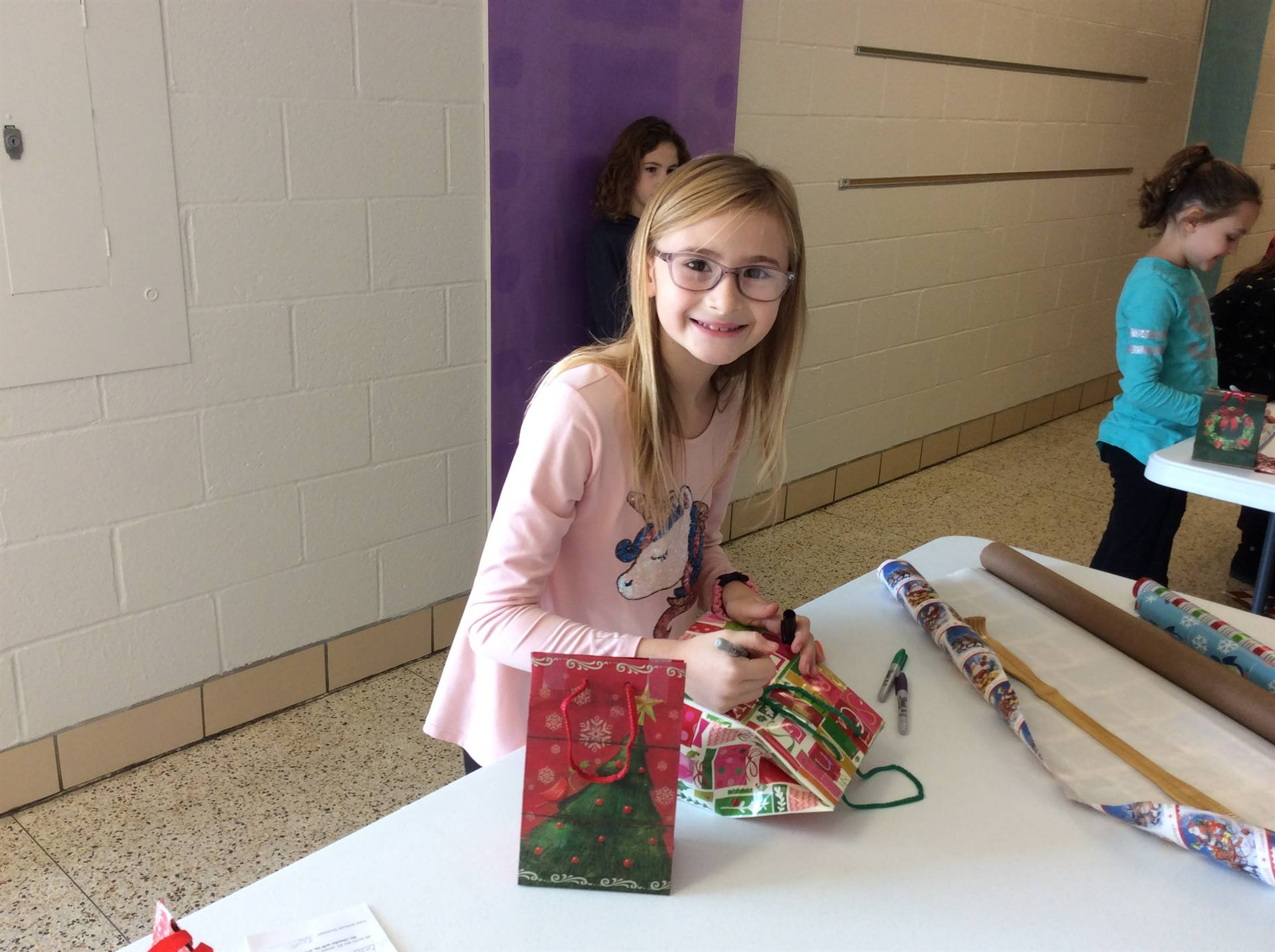 Gift Wrapping at the Holiday Shoppe