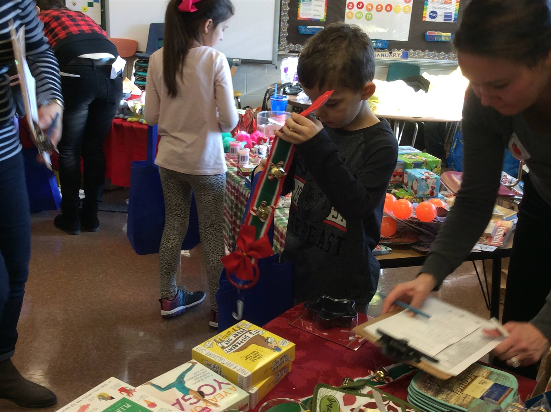 Shopping at the PSO Holiday Shoppe