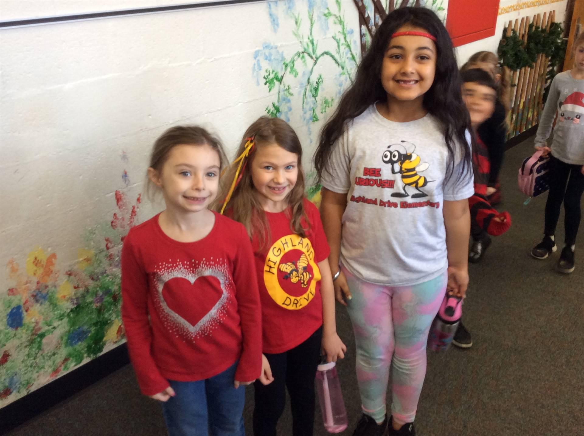 Spirit Week - Red, Yellow Bees Day