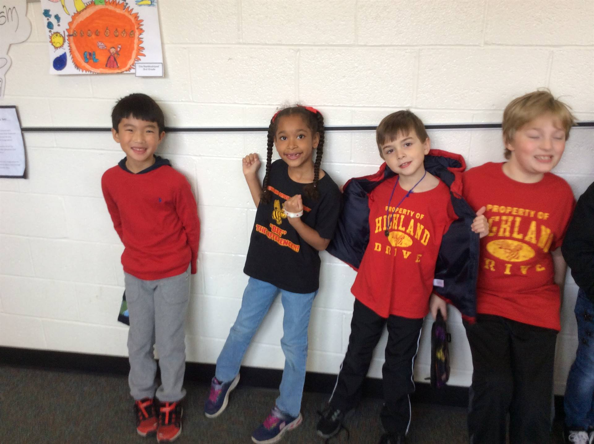 Spirit Week - Red, Yellow Bees Day