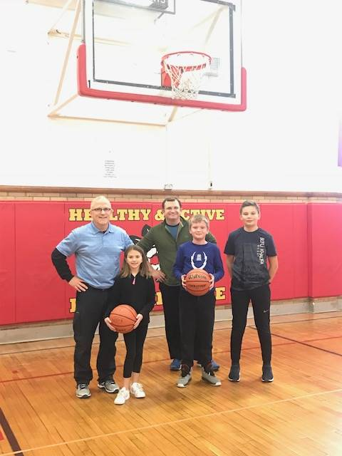 Extra Basketball with Staff