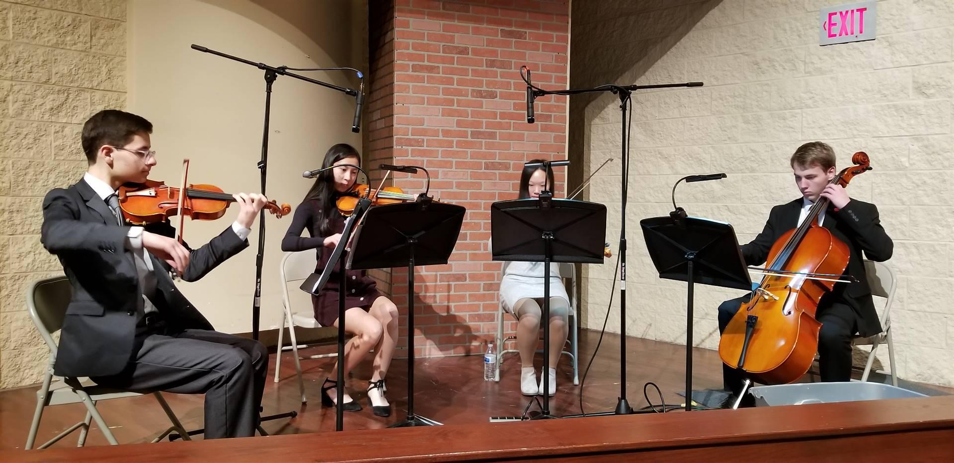 String Quartet plays for NHS Induction