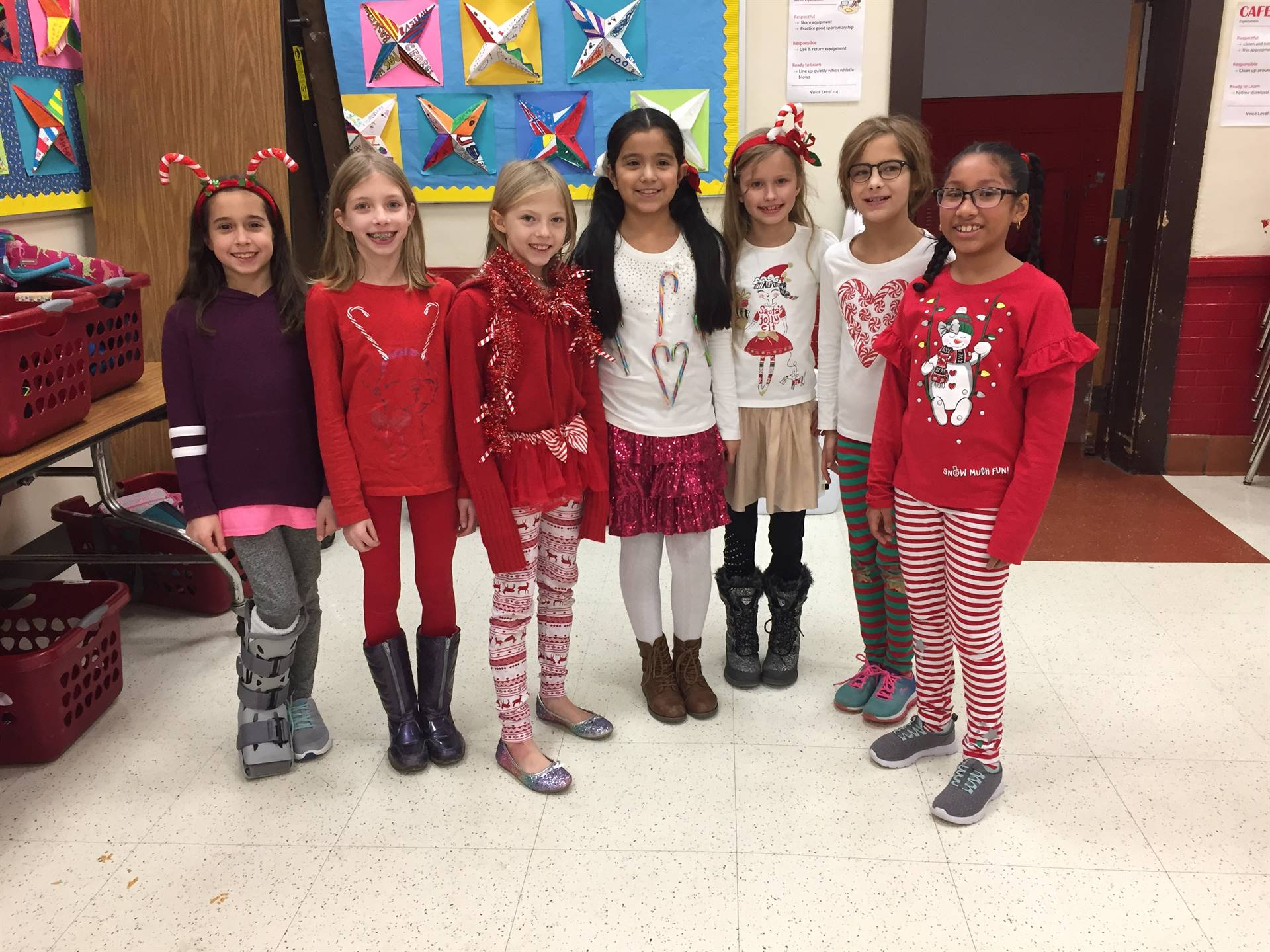 4th grade red sweaters