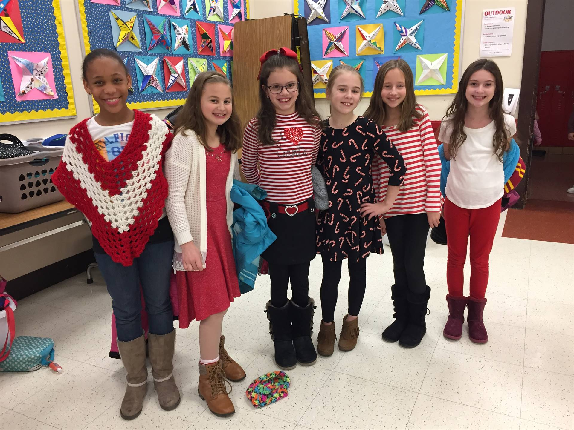 More 4th grade red sweaters