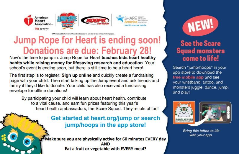 Information for Jump Rope for Heart