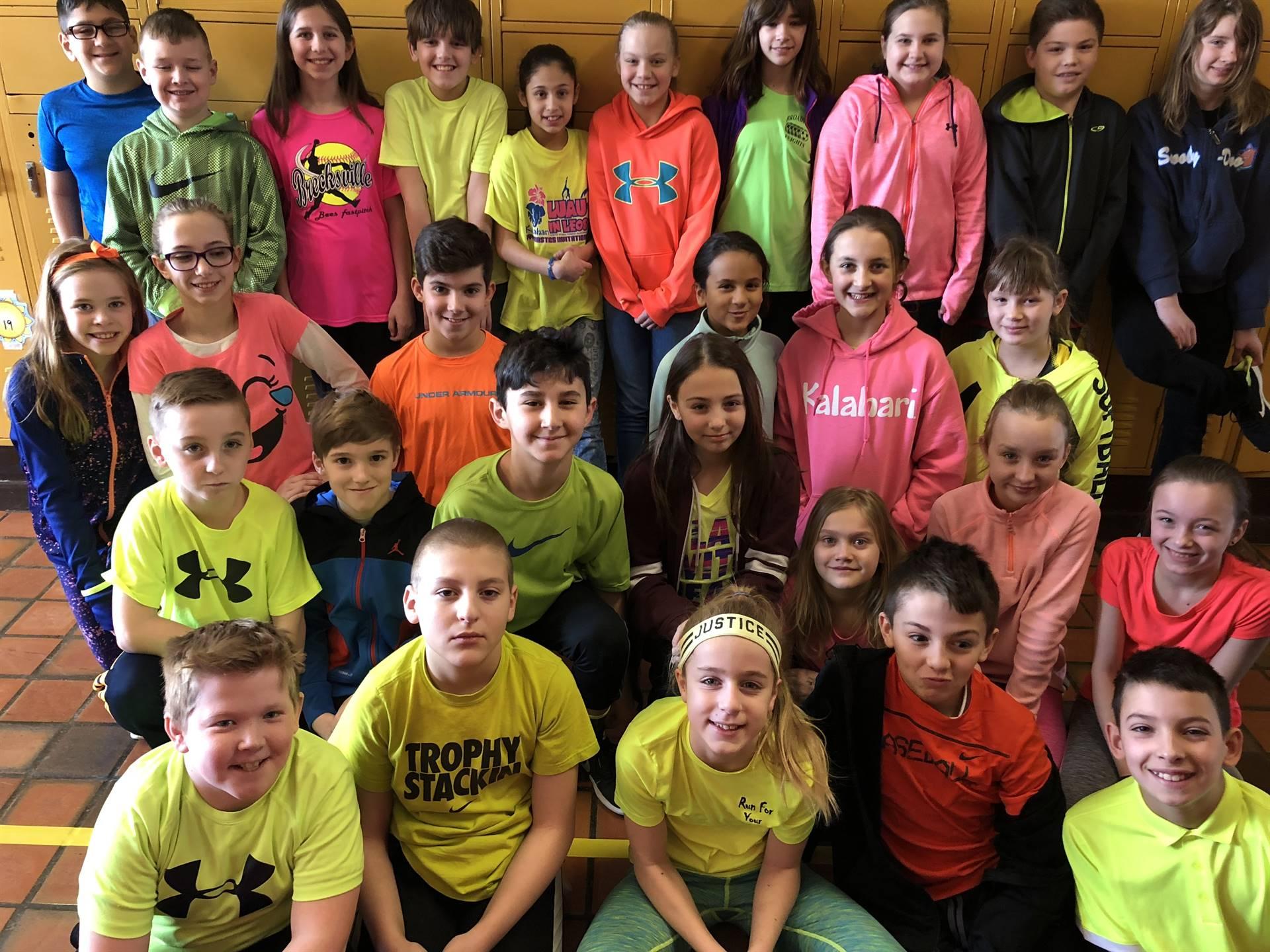 Neon Day 5th Grade Class