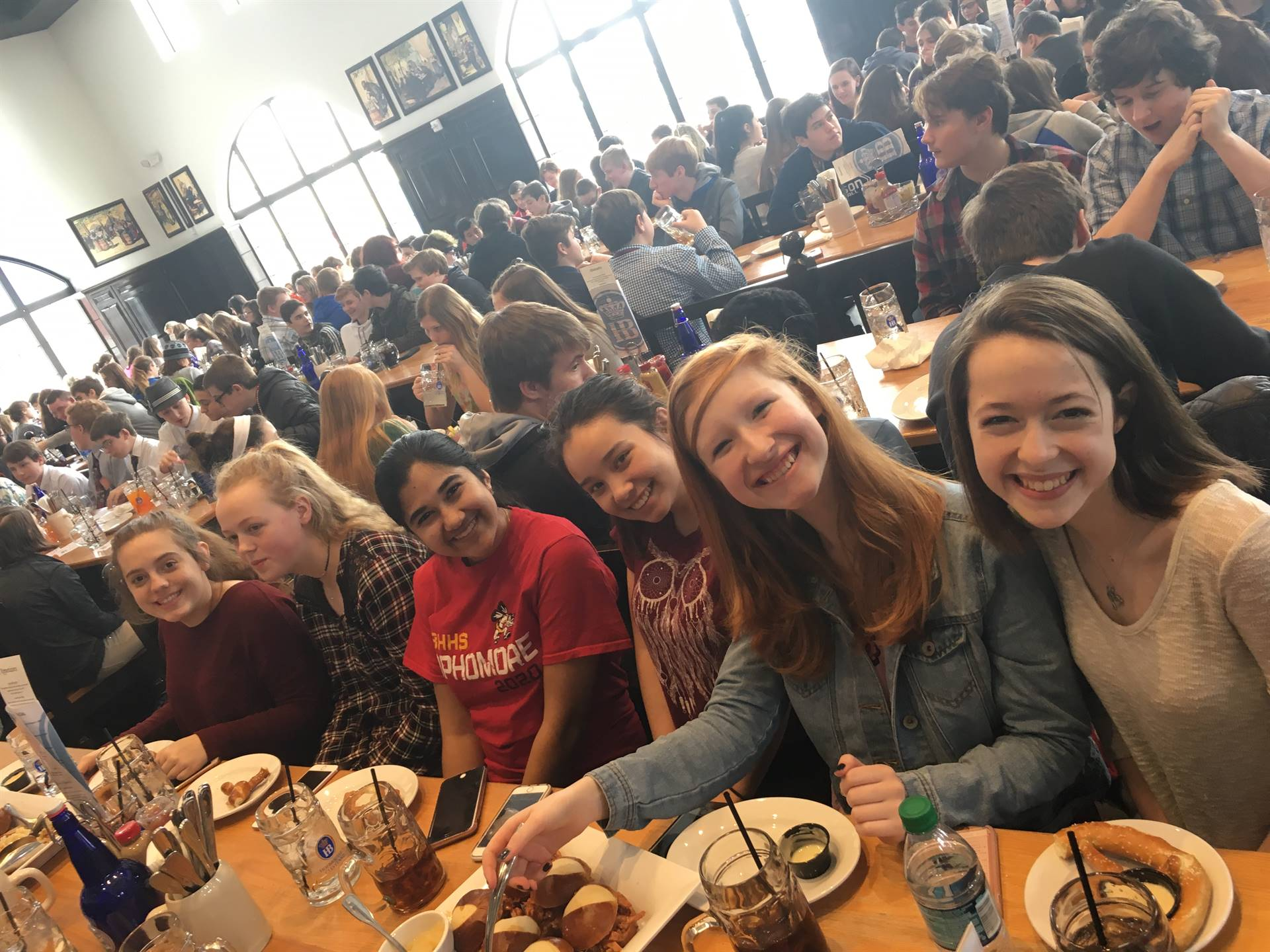 German Club members celebrating Carnival at Hofbrauhaus