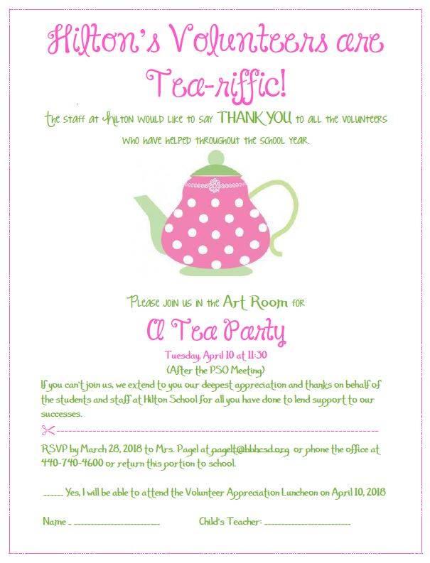 Volunteers are Tea-riffic