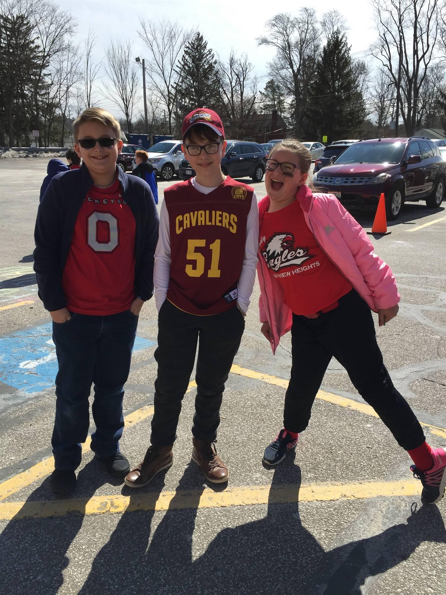 Students Celebrating Sports Day during Spirit Week