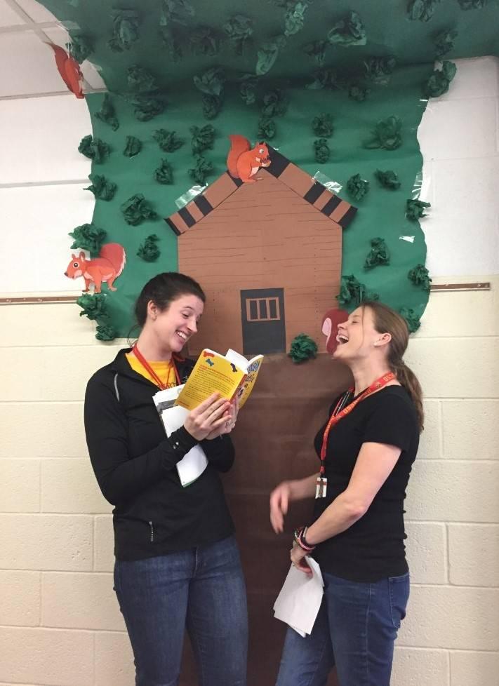 Teachers reading Fenway and Hattie