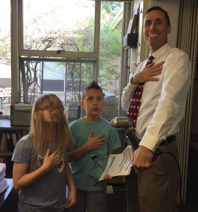 Morning announcements Pledge of Allegiance
