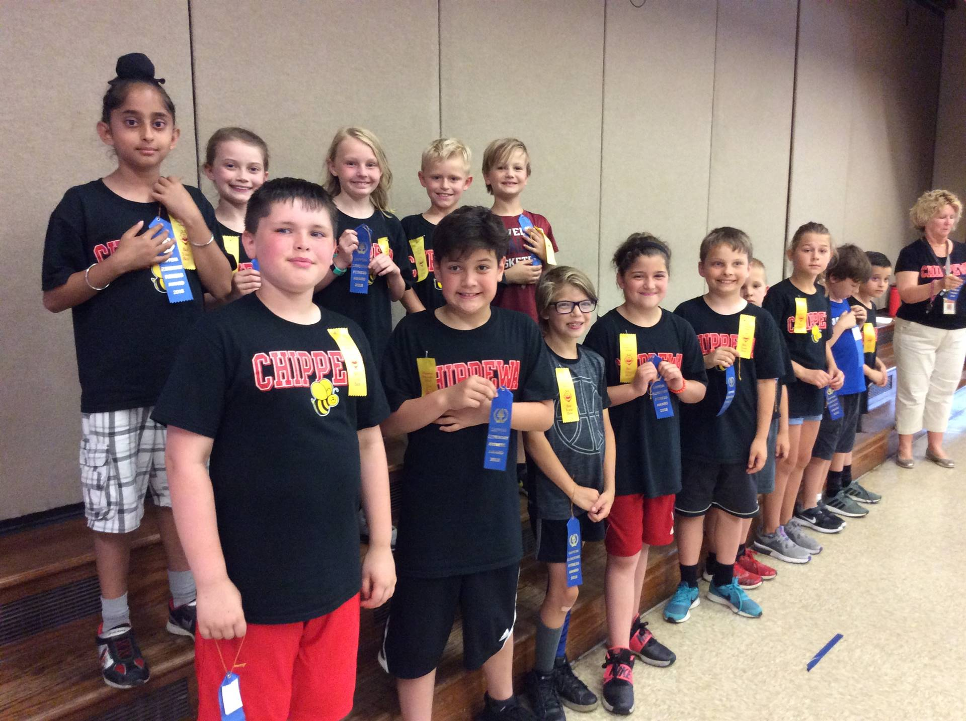 Third Grade First Year Blue Ribbon Recipients
