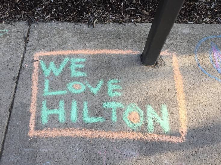 Staff Appreciation-sidewalk chalf designs-We Love Hilton