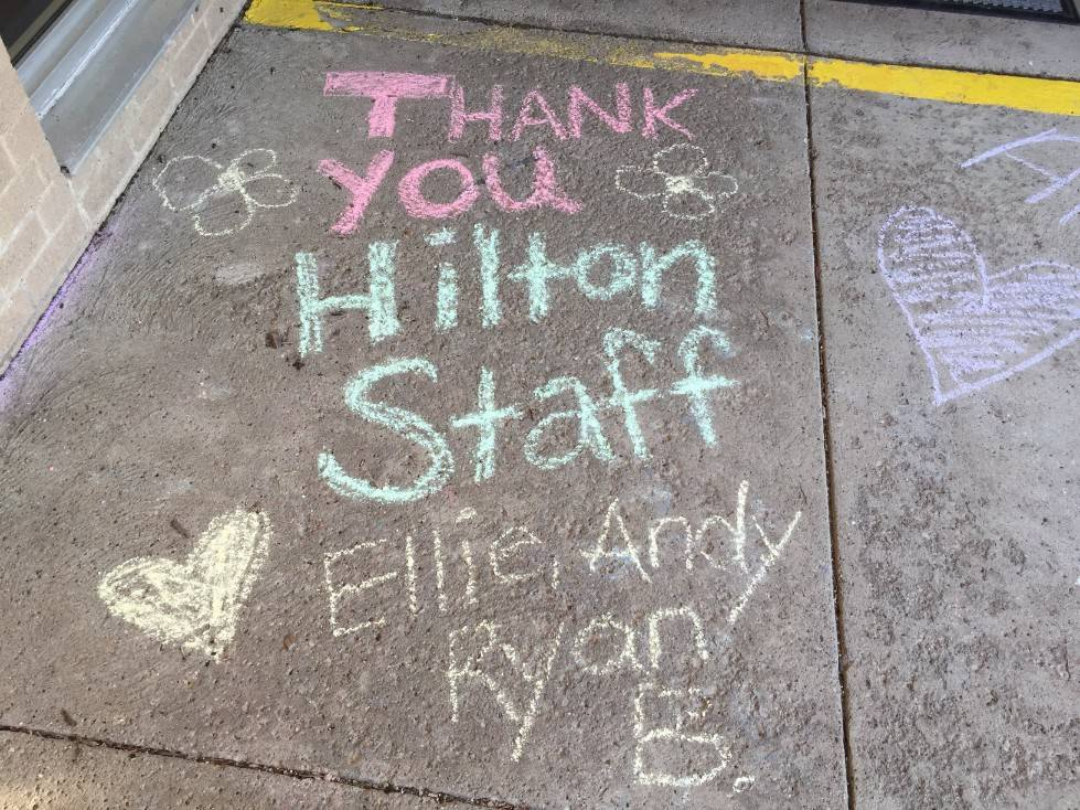 Staff Appreciation-sidewalk chalf designs-Thank you Hilton Staff 3