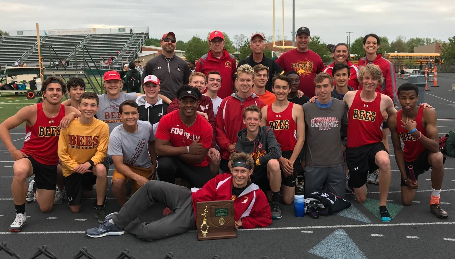 Boys Track captures District Title