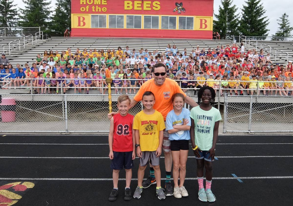Field Day 18- Mr. Martin and 3rd graders
