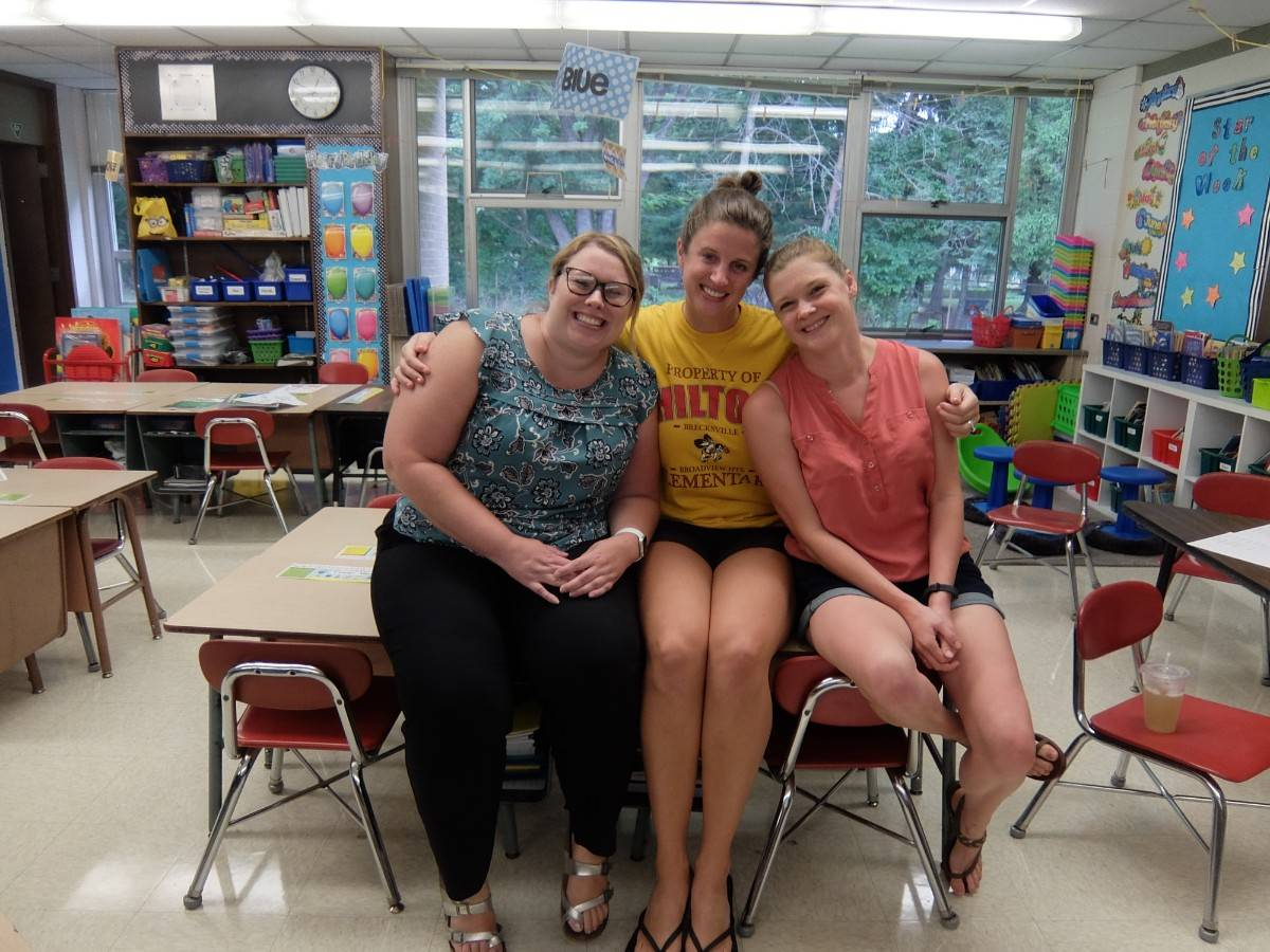 Miss Smith, Mrs. Niederhelman and Mrs. Sierleja