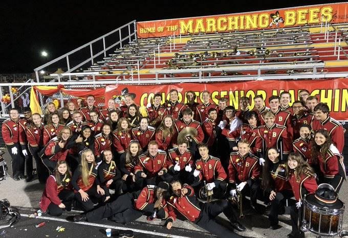Band Seniors on Senior Night
