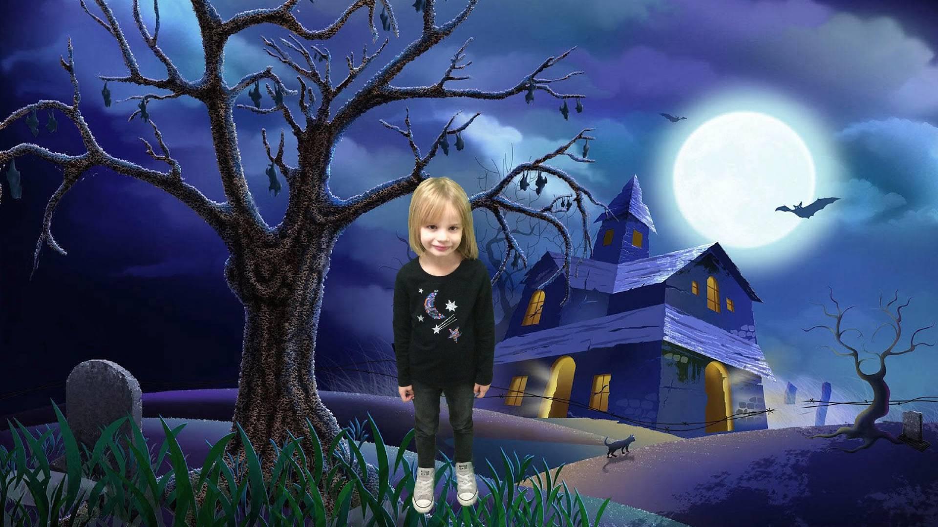 Kindergarten Green Screen Halloween