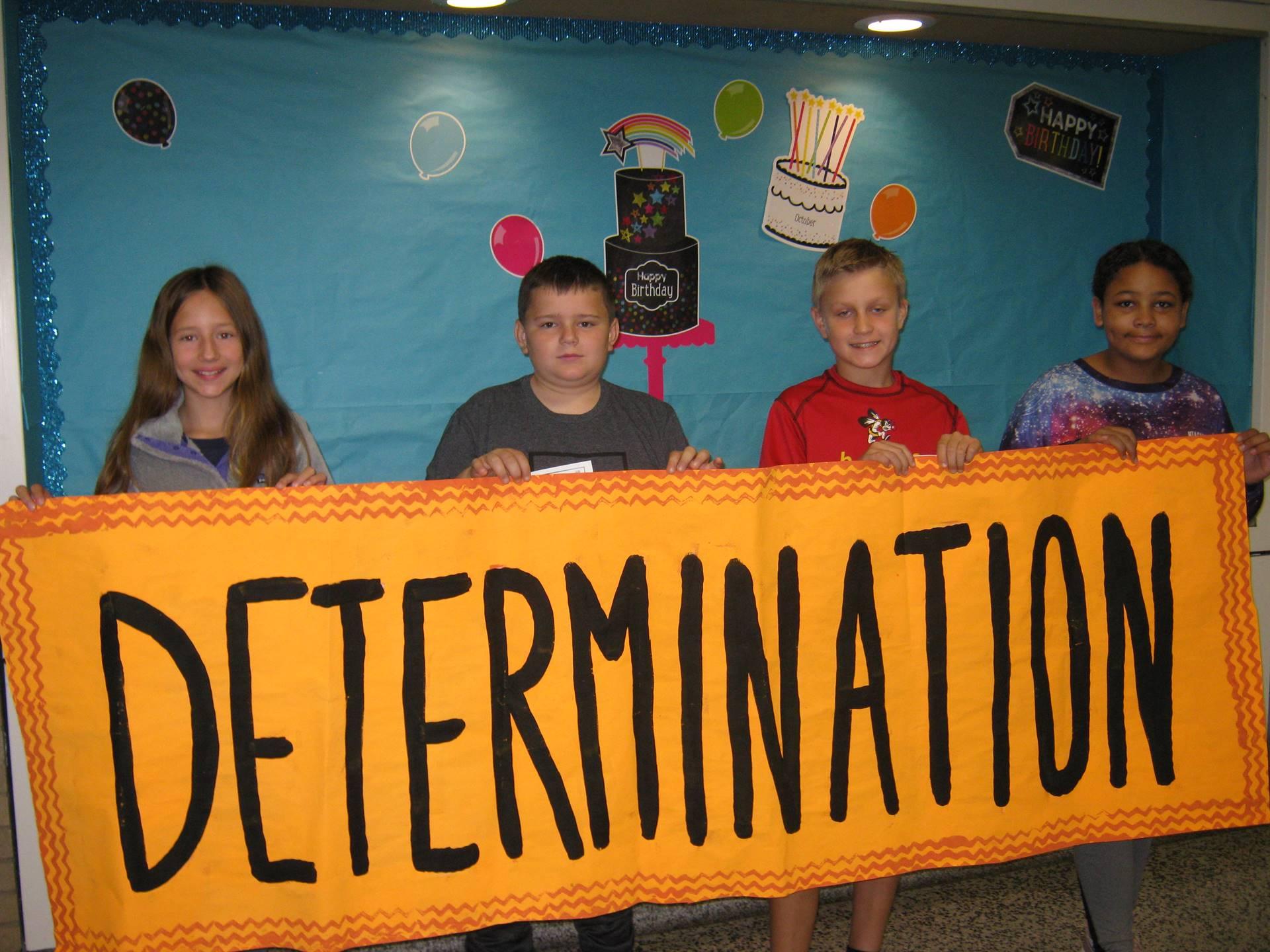 Determination middle school banner