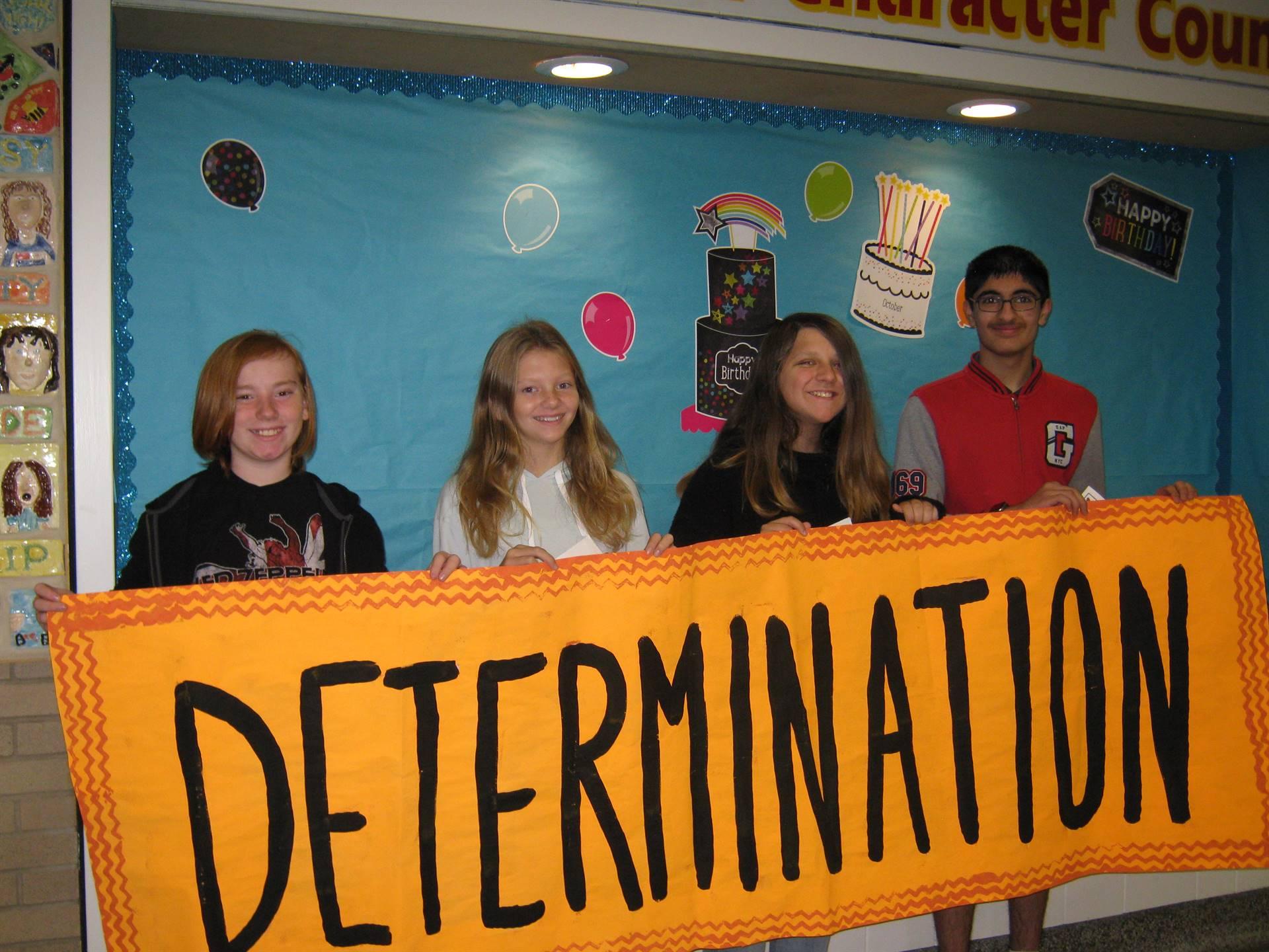 Determination middle school banner 2