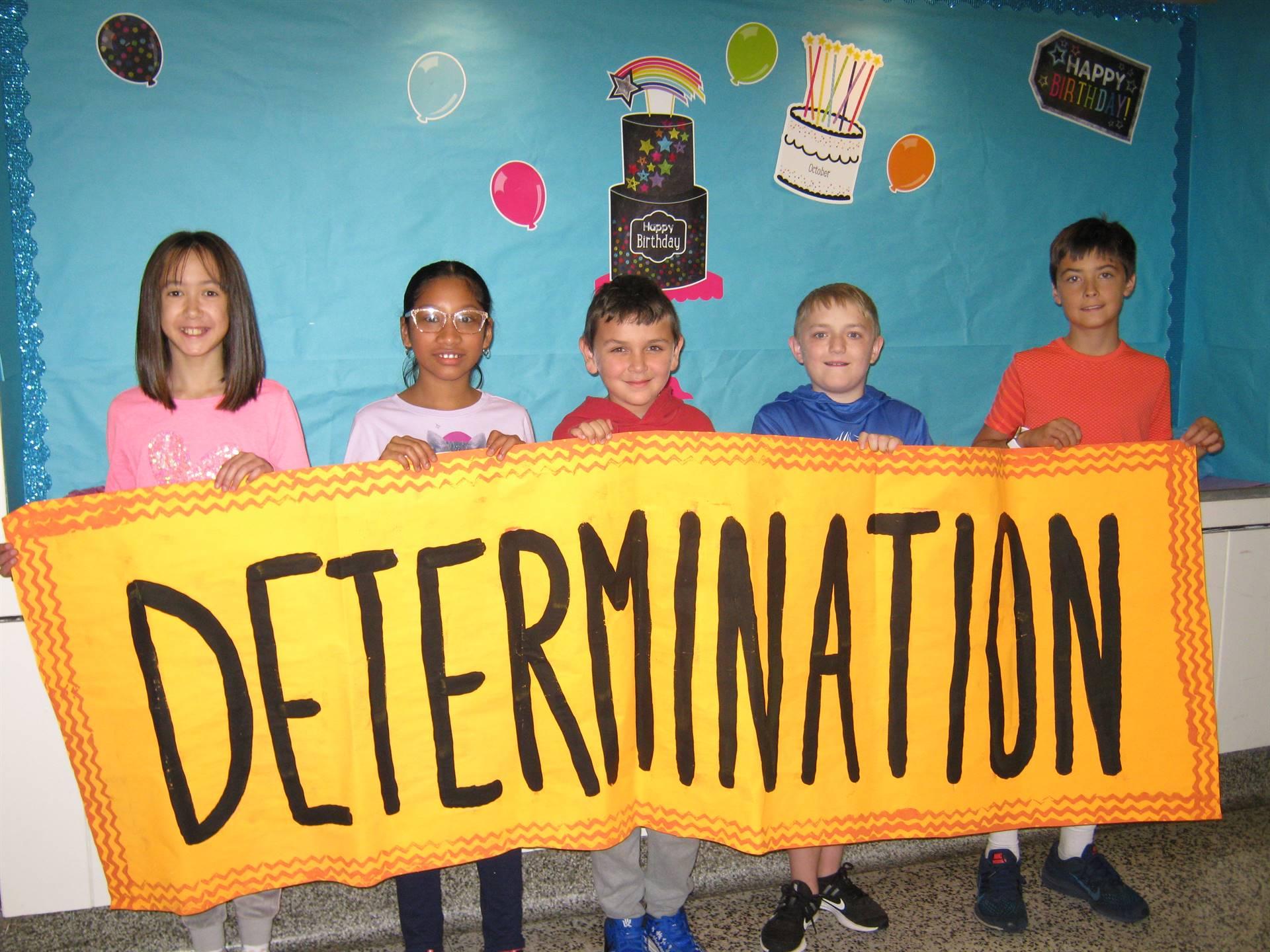 Determination middle school banner 3