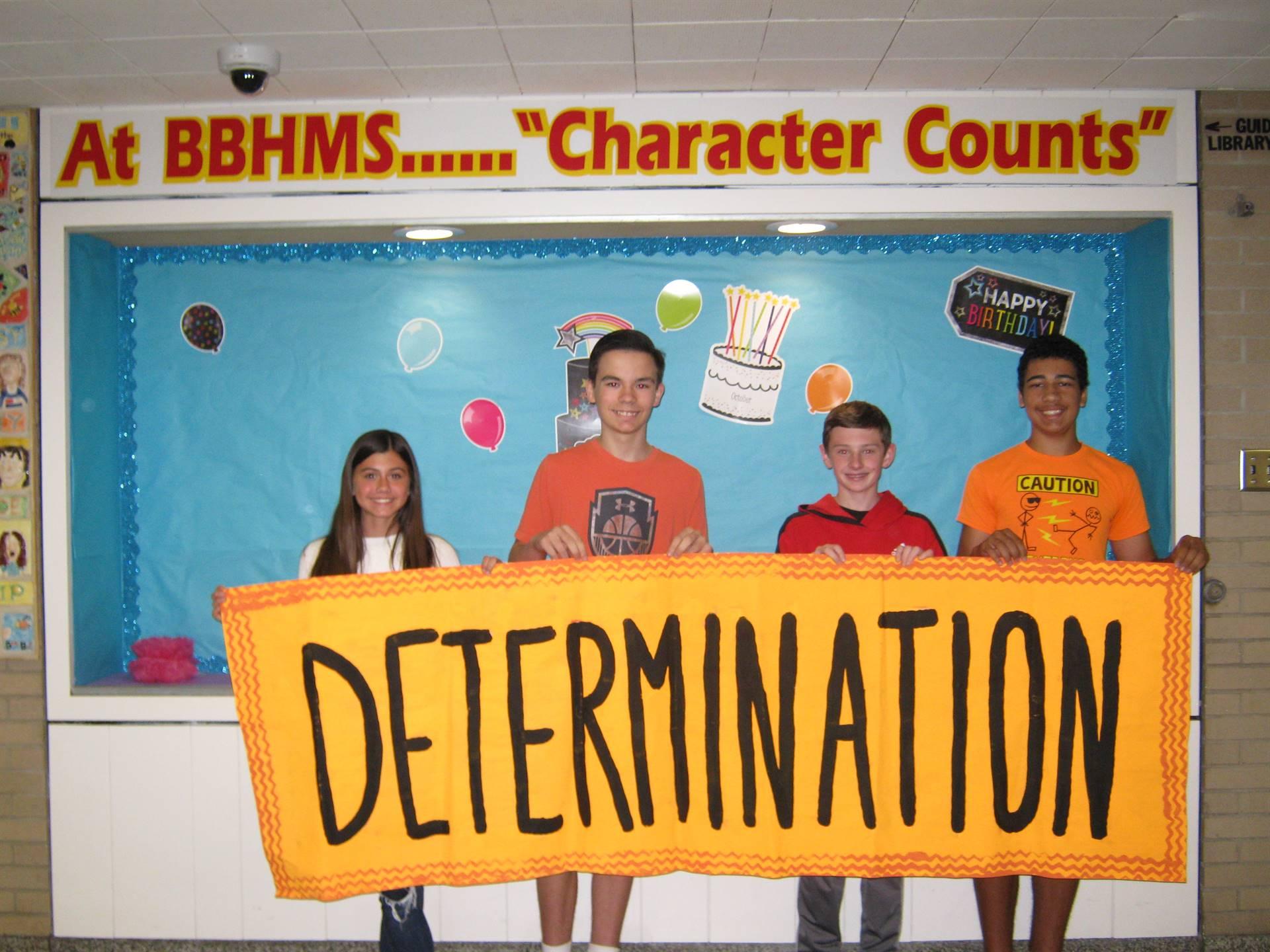 Determination middle school banner 6