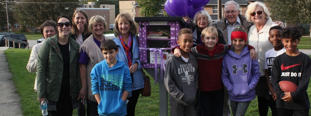 Little Free Library Dedication at Seneca Apartments
