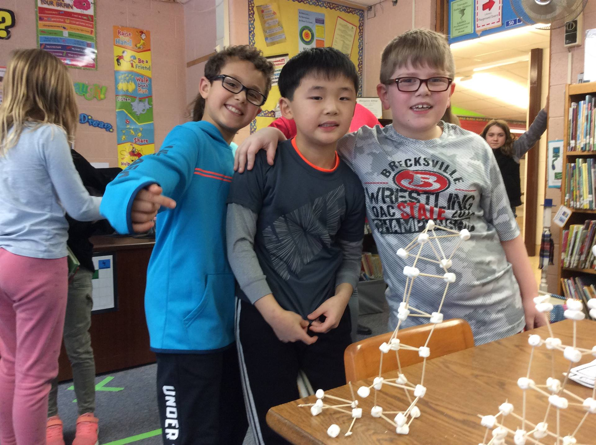 Creators of the tallest structure in Miss Janko's room!
